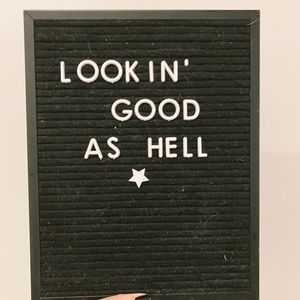 Letterboard, Felt (All Items Accounted For)